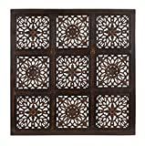 Deco 79 Classy Wooden Wall Panel with Abstract Design, Rustic Finish Review