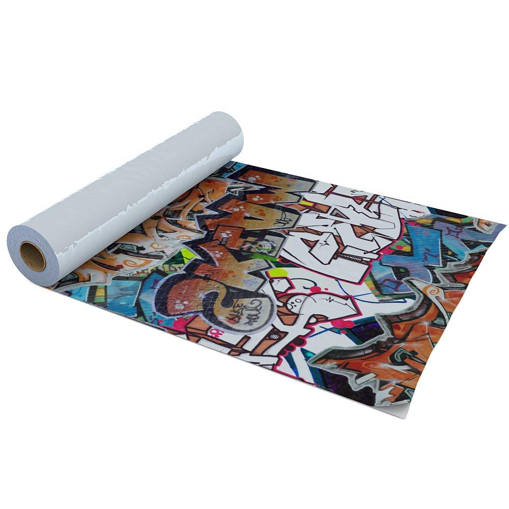 Dekofolie selbstklebend Graffiti Wandtattoo Klebefolie Möbelfolie Schrankfolie Dekorfolie Türfolie Folie Bastelfolie Plotterfolie Möbel Wanddeko 90cm x 225cm