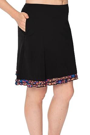 1588ca2a7f HydroChic Women's Ruffle Swim Skirt, Modest Swimwear with Hidden Shorts at  Amazon Women's Clothing store: