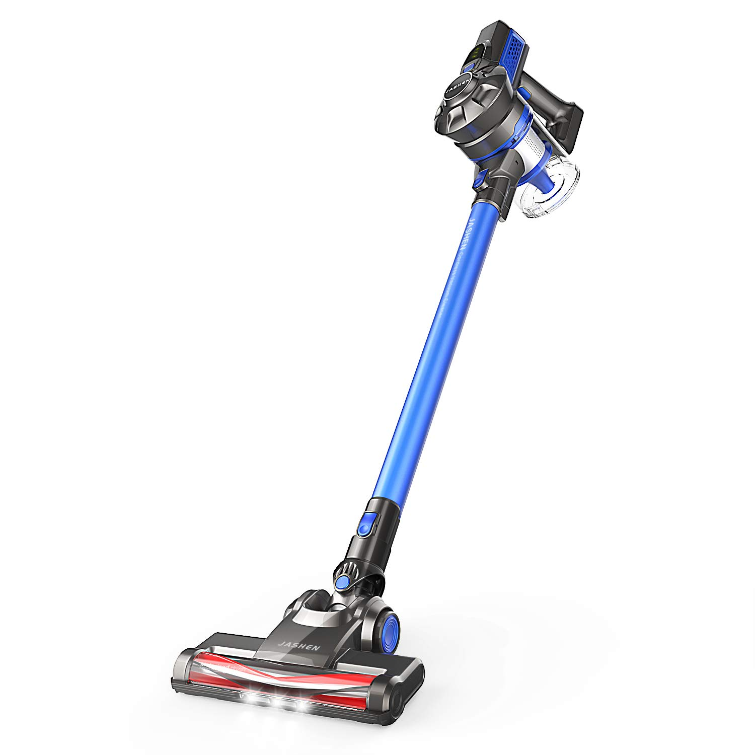 JASHEN Lightweight Cordless Vacuum Cleaner, 180W 12Kpa Powerful Suction 2 in 1 Handheld Stick Vacuum with Rechargeable Battery and LED Lights for Hardwood Floors, Carpets, Rugs and Pet Hair Cars