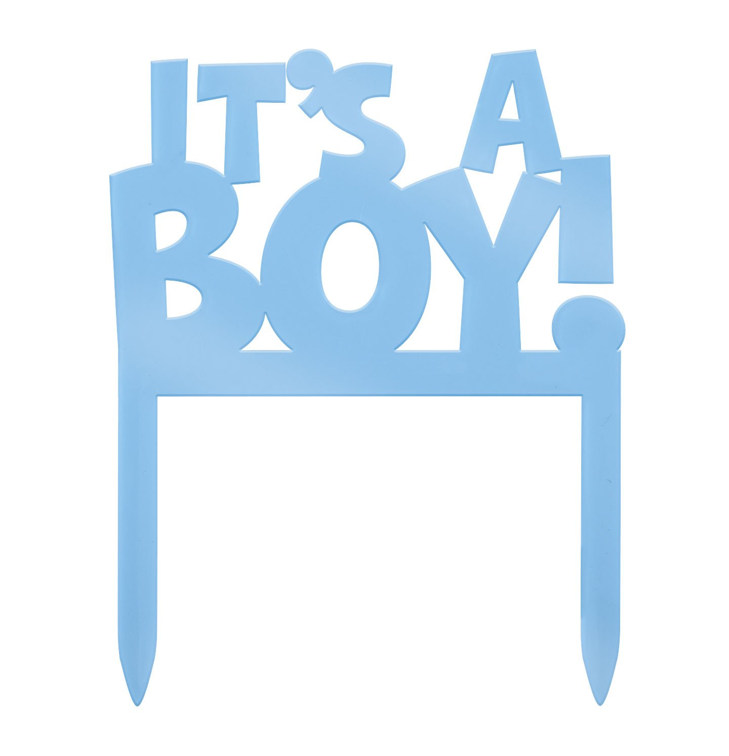 Amazon Plastic It s A Boy Baby Shower Cake Topper Kitchen