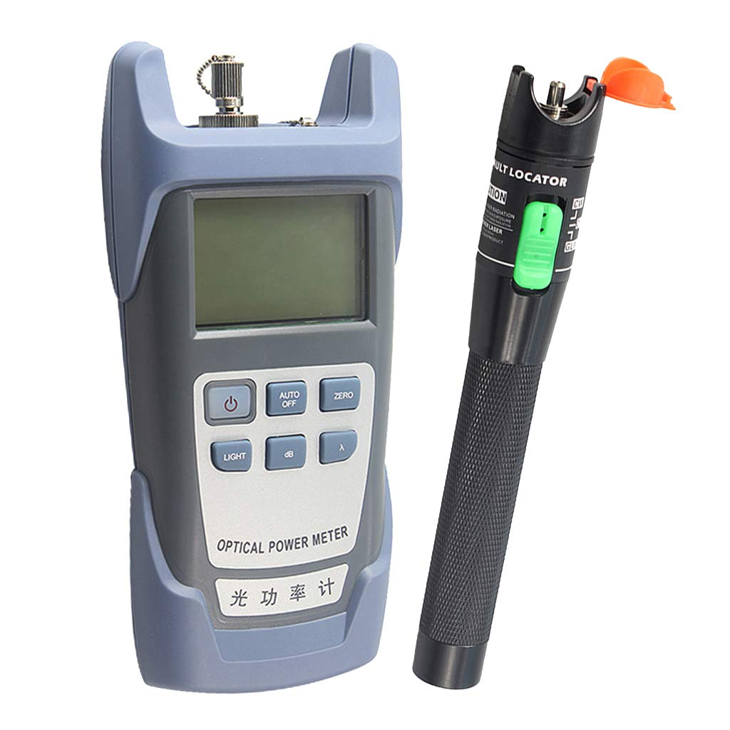 Baosity AUA-9 Fiber Optic Cable Tester Optical Power Meter with Sc & Fc Connector Fiber Tester + 30mW Visual Fault Locator Equipment for CATV Test,CCTV TES