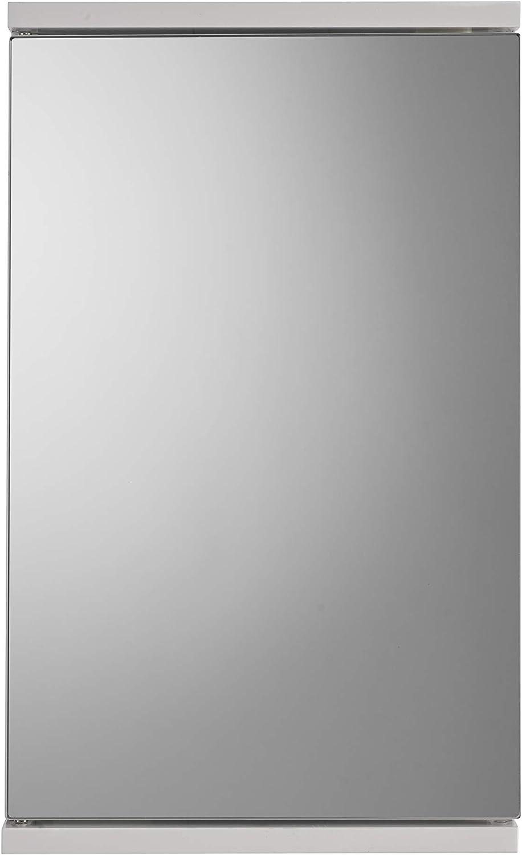 Croydex Simplicity Self-Assembly 1 Door Corner Mirror Cabinet (FSC MDF), White