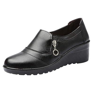 Printemps Et Automne Chaussures Femmes Mère À Talons Plats