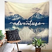 Doremy Wall Mountain Hanging Tapestry, Beach Curtain Bath Towel with Romantic Pictures Art Nature Home Decorations, Sports, Swim, Pool, Spa and Sauna 59 x 51 inches (TP1081-1)