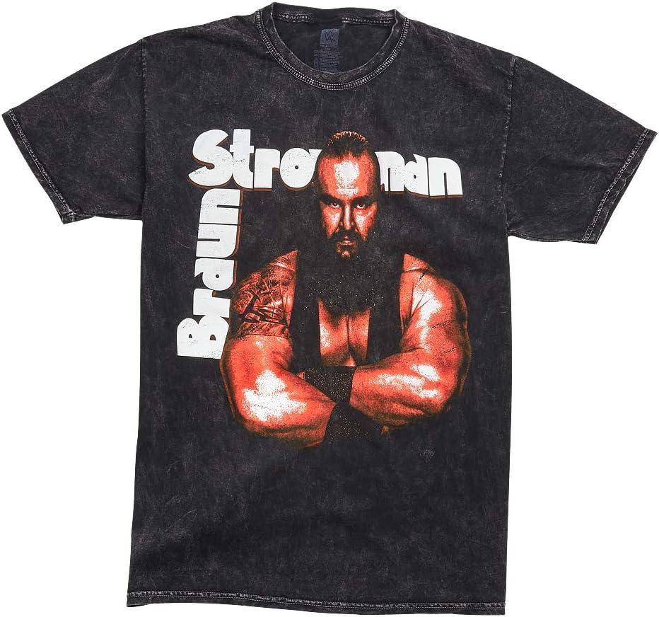 WWE AUTHENTIC WEAR Braun Strowman Get These Hands Mineral Wash T-Shirt Black Medium