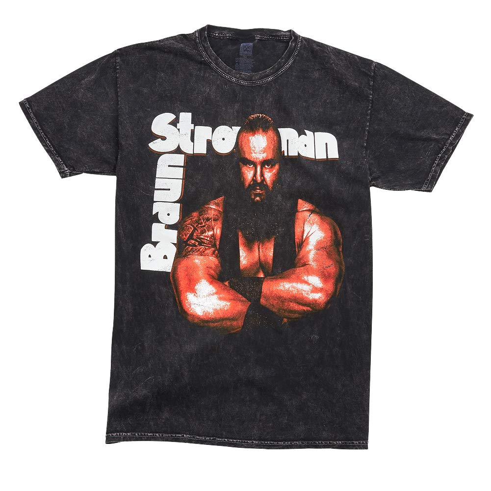 WWE AUTHENTIC WEAR Braun Strowman Get These Hands Mineral Wash T-Shirt Black Large