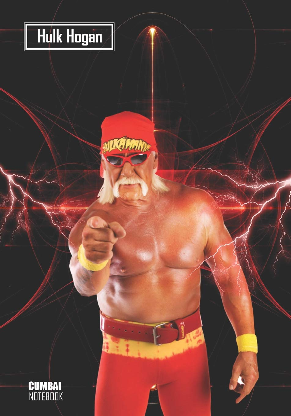 Notebook  Hulk Hogan Medium College Ruled Notebook 129 Pages Lined 7 X 10 In  17.78 X 25.4 Cm