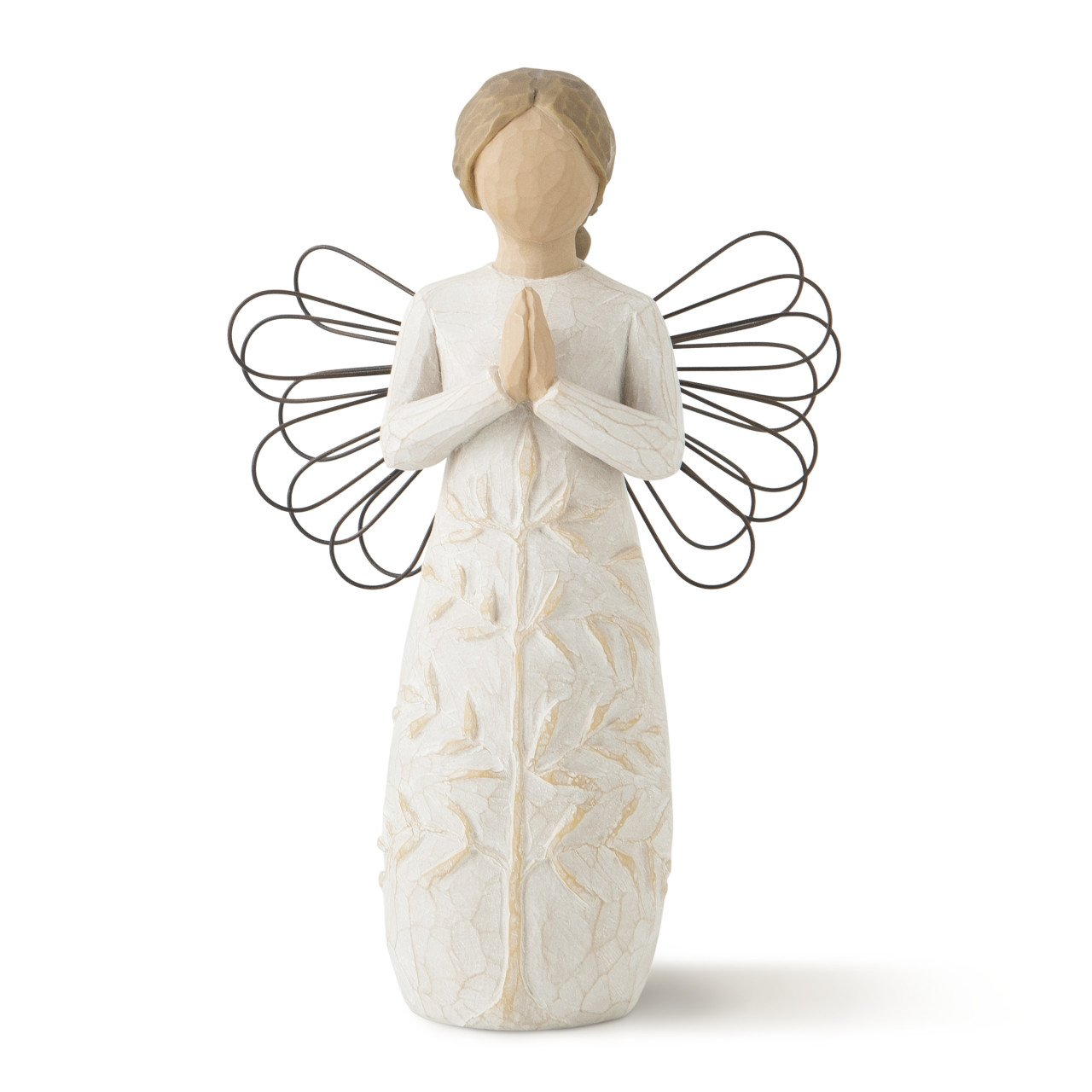 Willow Tree hand-painted sculpted angel, a tree, a prayer