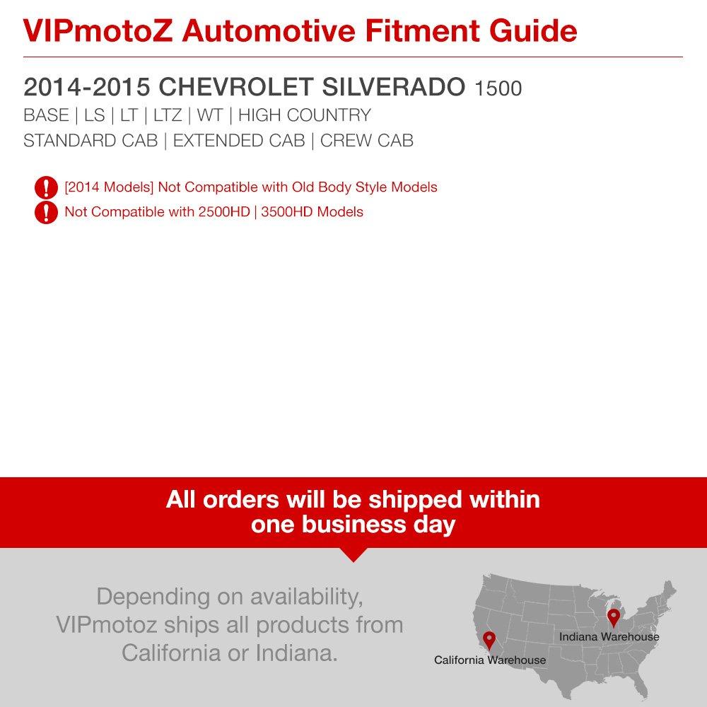 Driver /& Passenger Side VIPMOTOZ Chrome Bezel Black Housing OE-Style Headlight Headlamp Assembly For 2014-2015 Chevy Silverado 1500 Halogen Model