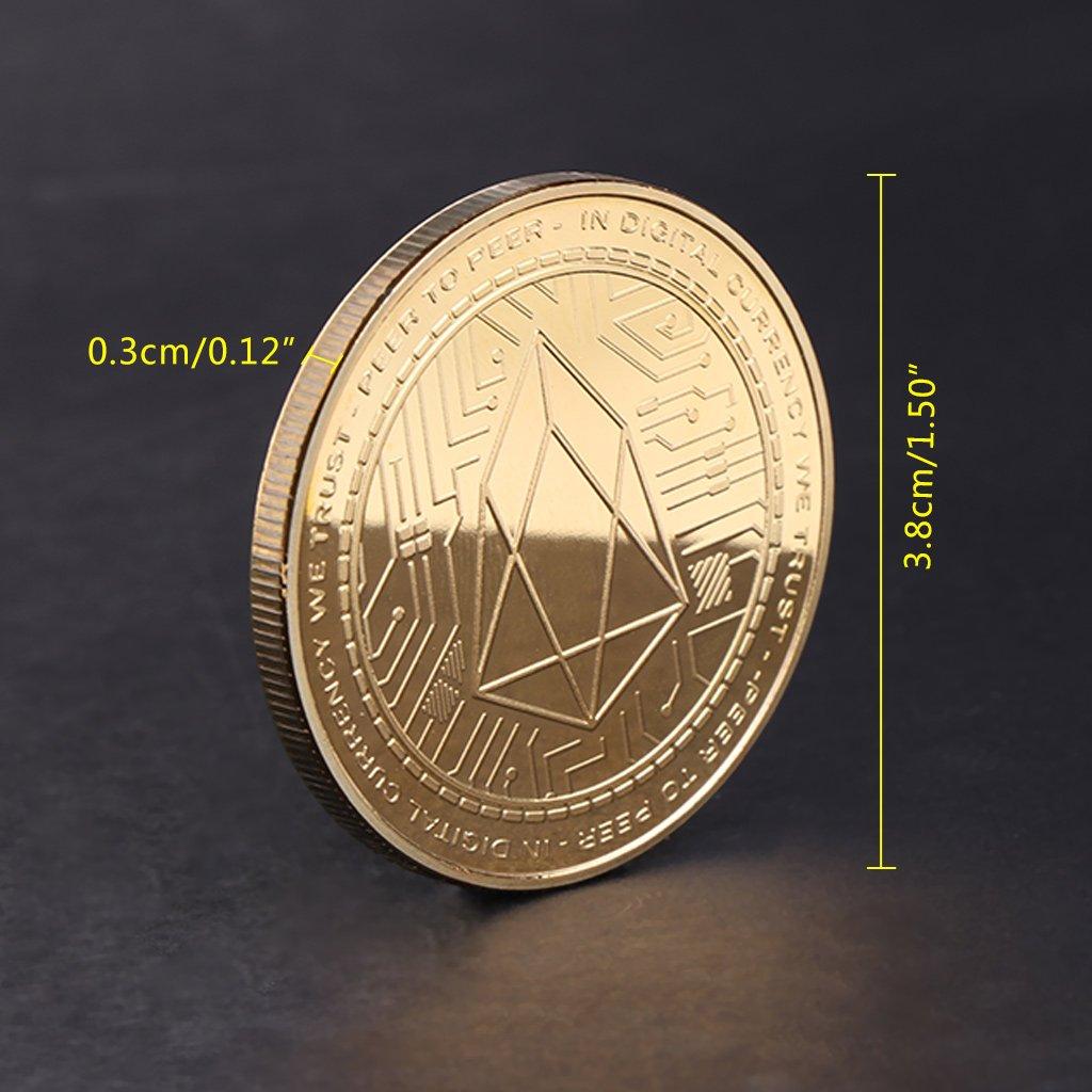 EOS Digital Currency Commemorative Coin Collection Souvenir Art Gift Golden