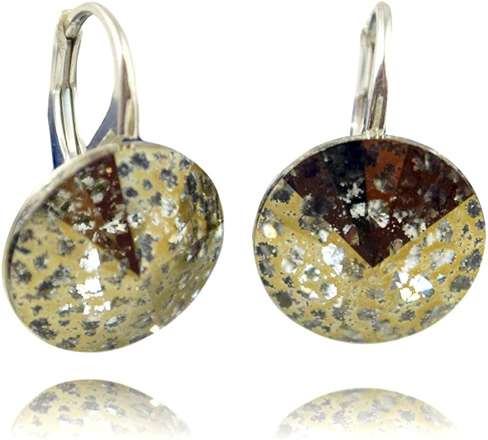 Crystals & Stones Rivoli - Pendientes para mujer con cristales de Swarovski Elements, con caja de regalo