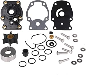 New Water Pump Repair Kit with Housing Replacement for Johnson Evinrude OMC(1980-UP)20 25 30 35HP Outboard Motor Parts - Replace 393630, 393509, 391636, 0393630, Sierra 18-3382
