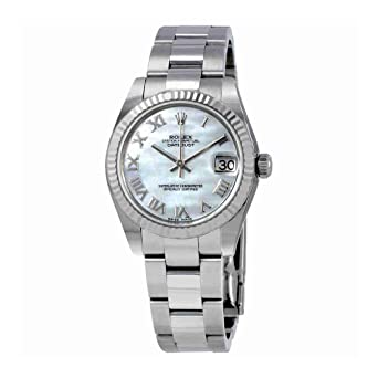 6478aaecabf Image Unavailable. Image not available for. Color: Rolex Datejust Lady 31  Mother of Pearl Dial Stainless Steel Rolex Oyster Automatic Watch 178274MRO