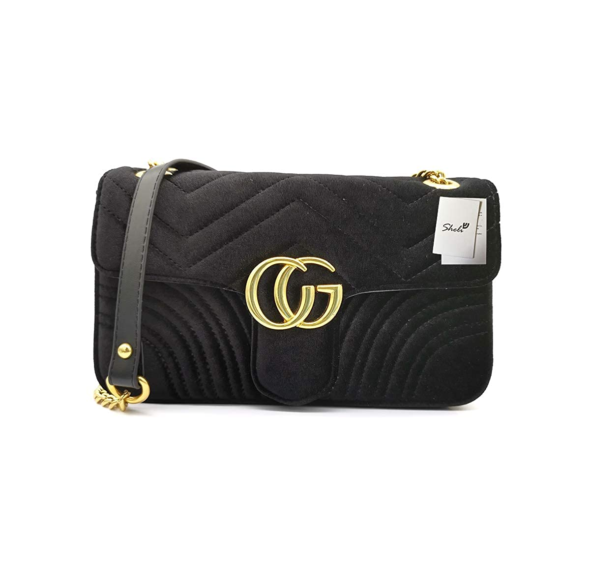 Quilted Purses and Handbags Black Crossbody