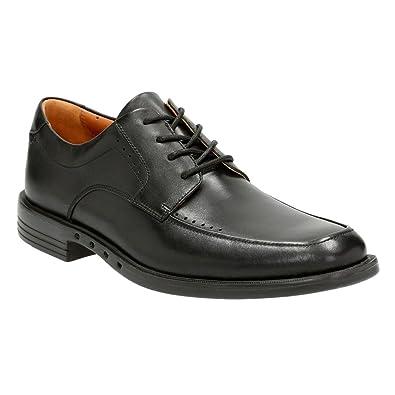 Clarks Un Bizley View Men's Black Leather