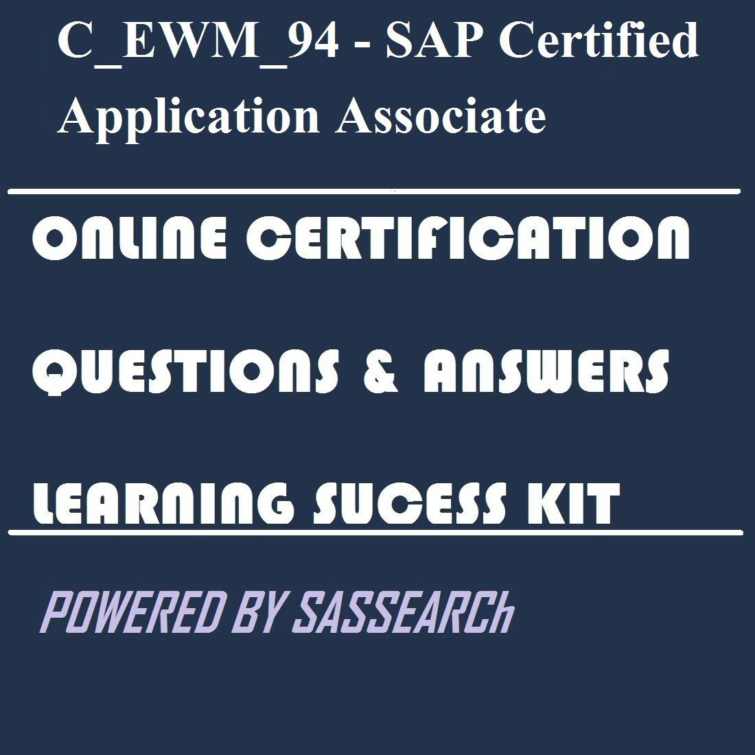 Amazon.com: C_EWM_94 - SAP Certified Application Associate - SAP ...