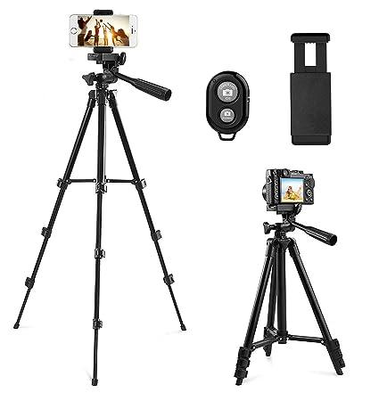 Kamera Stativ, CCRoom 102cm Aluminium Smartphone Stativ mit Handy Halterung und Bluetooth Fernbedienung Handy Stativ für iPho
