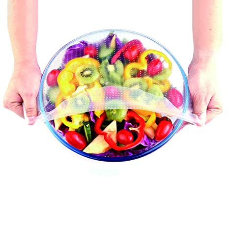 Tapas de silicona para cuencos, tapa elástica para alimentos, elásticas