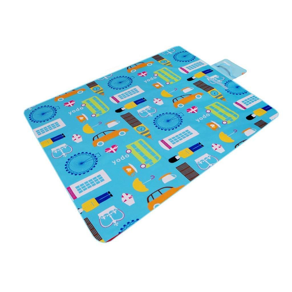 KYCD Im Freien Wasserdichte Oxford-Tuch-Picknick-Matte, Feuchtigkeitsfeste Matte Tragbare Faltende Strand-Rasenkissen Ausflug-Feldmatte, 200 × 145 (Farbe   B)