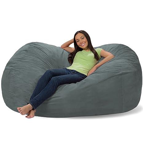 Admirable Comfy Sacks 6 Ft Lounger Memory Foam Bean Bag Chair Mist Andrewgaddart Wooden Chair Designs For Living Room Andrewgaddartcom