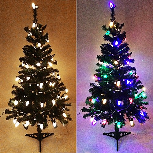 50 Count Led C7 Christmas Lights Multi Color