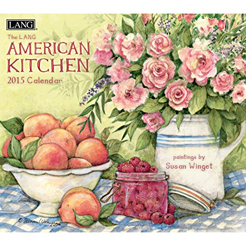 Lang January to December, 13.375 x 24 Inches, Perfect Timing American Kitchen 2015 Wall Calendar by Susan Winget (1001777)