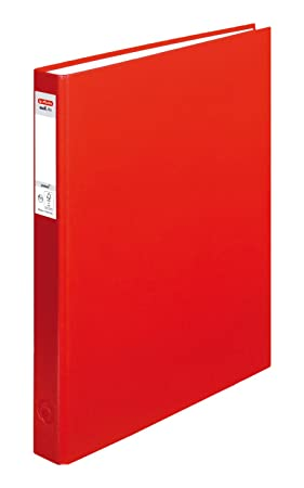 herlitz Ringbuch maX.file protect, A4, 4-Ring-Mechanik, rot: Amazon ...