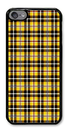 outlet store 071aa fd934 Custom iPod Touch 6 Cases - Yellow Plaid Hard Plastic Phone Cell Case for  iPod Touch 6