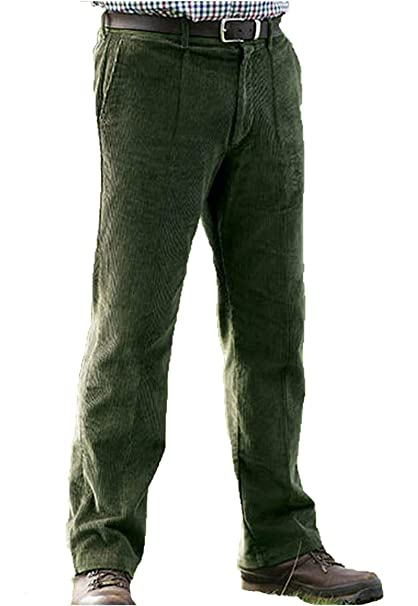 40d4e1546b00 Champion Herren Cord Hose Premium Qualität Schwere Cord Baumwolle Smart  Casual Hosen Zip Single Falte vorne
