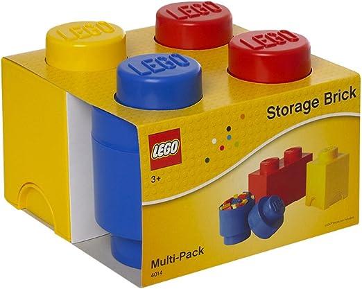 Room Copenhagen 40140001 Multipack de Ladrillos de Almacenamiento de Lego, pequeño. Cajas de almacenaje apilables. Conjunto de 3 Piezas, Multicolor, One Size: Amazon.es: Hogar