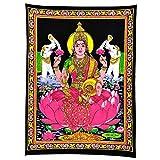Maa Lakshmi Goddess of Wealth & Prosperity - Cotton Tapestry