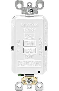 Peachy Leviton Gfsw1 W Self Test Smartlockpro Slim Gfci Combination Switch Wiring Digital Resources Funiwoestevosnl