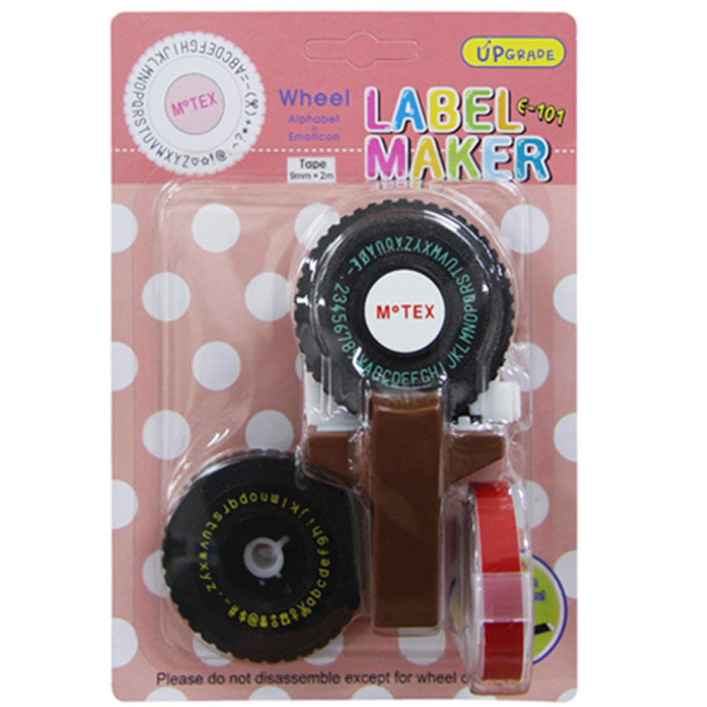DIY /& Crafting for Home Black Quayub E-101 Label Maker Manual Laboratory Label Maker with 1 Tape&2 Letter Plate