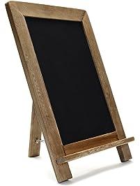 Rustic Wooden Framed Standing Chalkboard ...