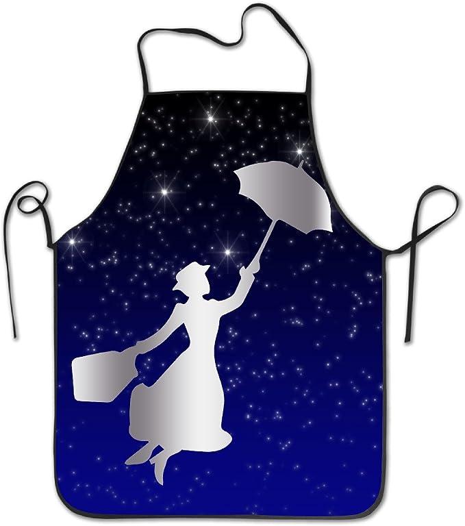 Mary Poppins Platinum estilo bordado bordes cocina Delantal ...