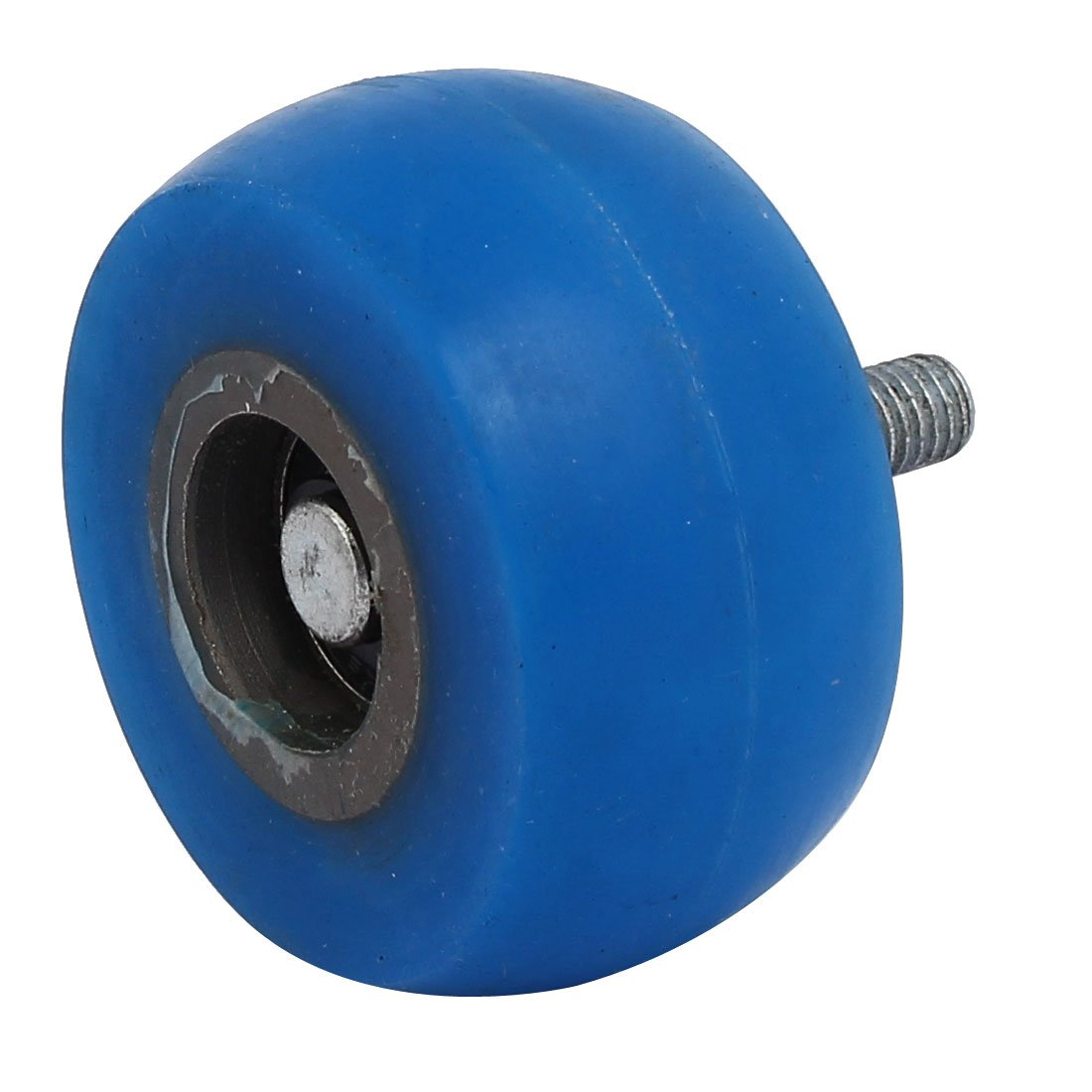 uxcell M8 Thread Dia 60mm x 30mm R30 Coating Machine Silicon Rubber Wheel Roller