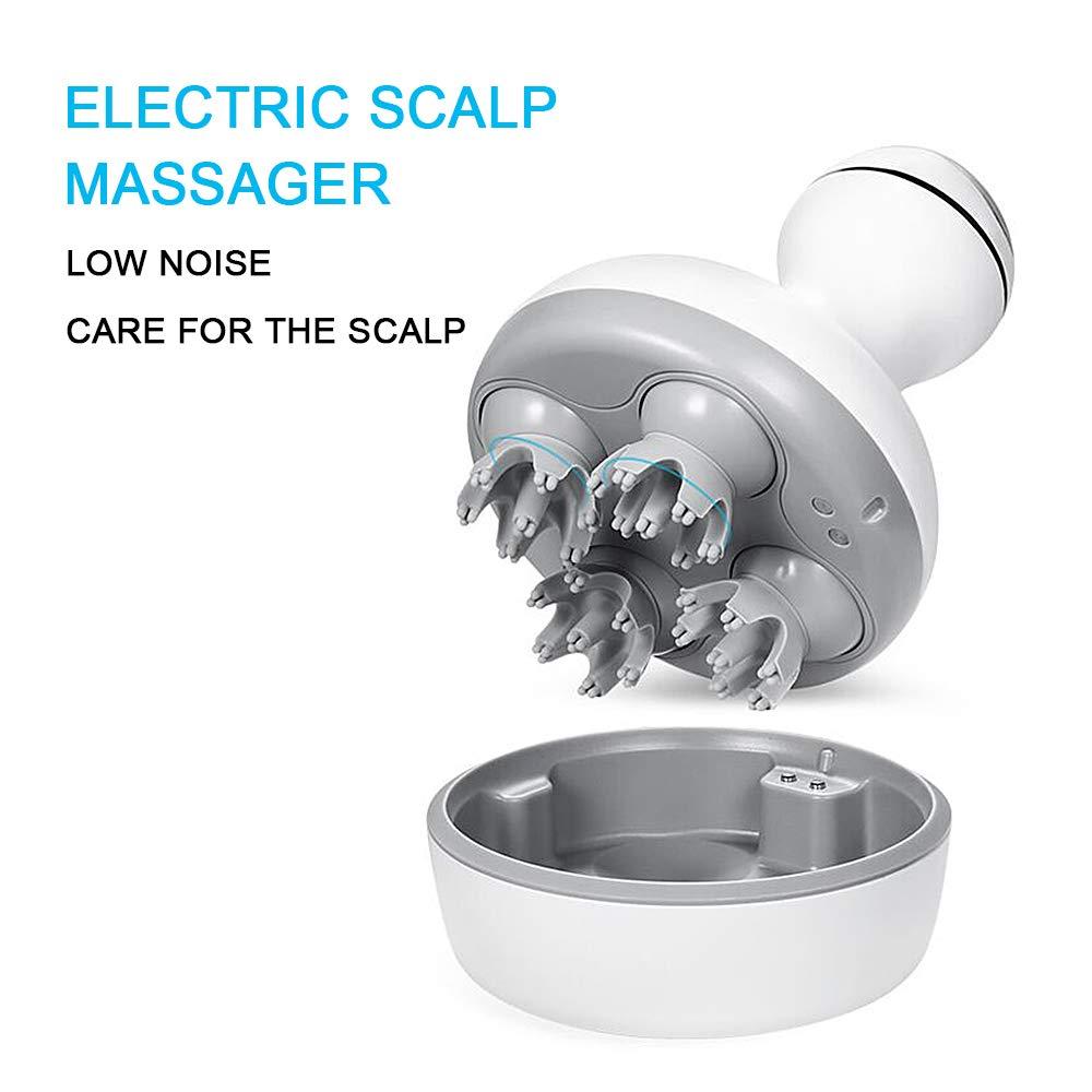Hair Scalp Massager, DEDAKJ Electric Handheld Shampoo Brush Head Massager for Face, Hand, Arm, Neck, Foot and Body, IPX7 Waterproof by DEDAKJ
