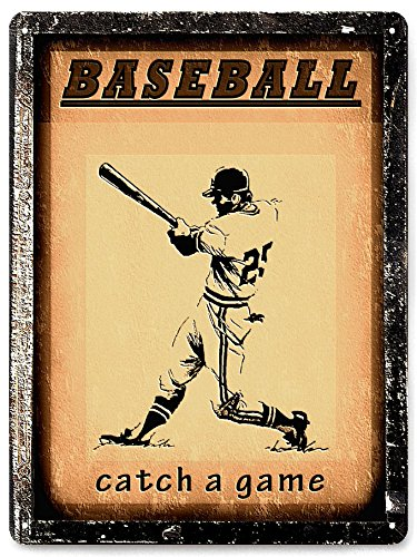 Amazon.com: Mancave baseball great gift metal sign sports art ...