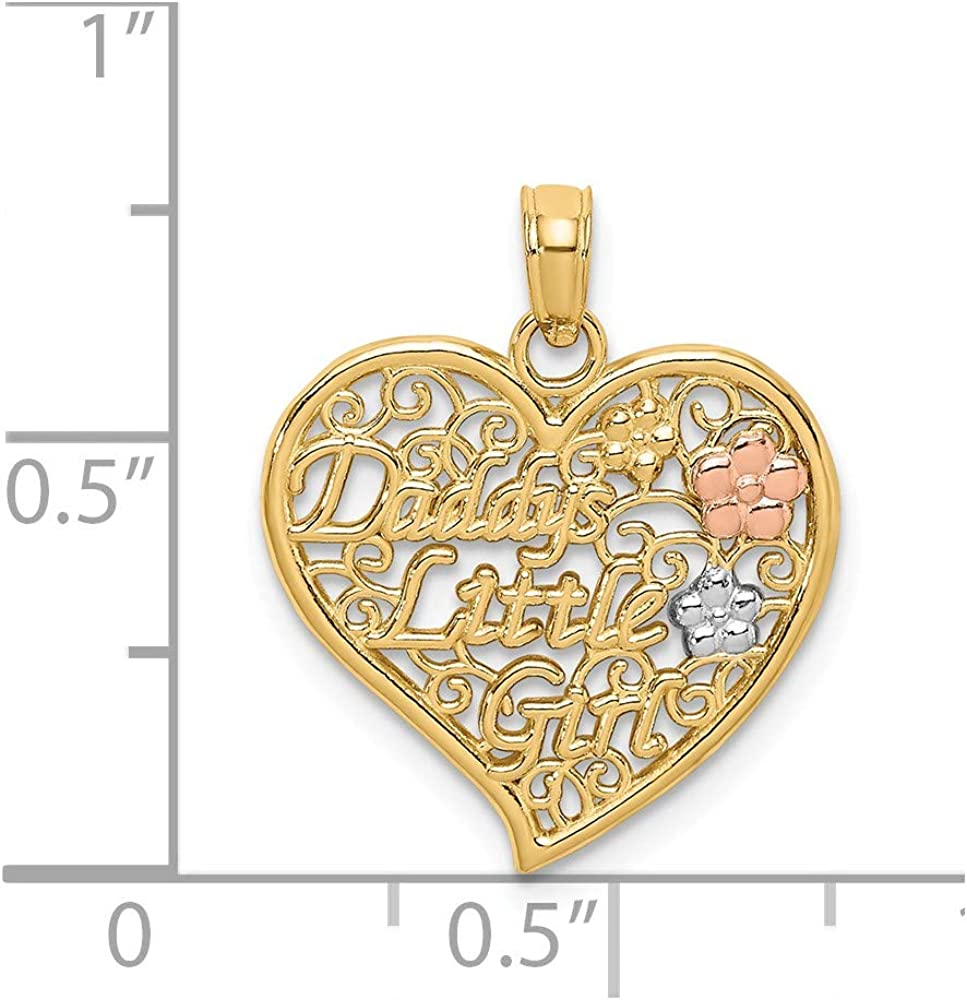 Best Quality Free Gift Box 14k Daddys Little Girl Charm