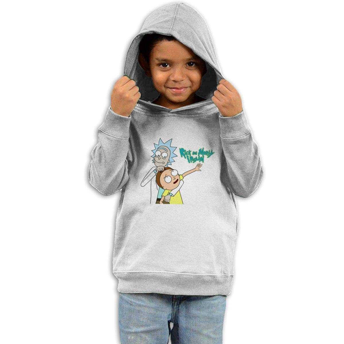 Stacy J. Payne Boys Rick and Morty Casual Style Hoodie41 White