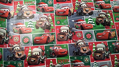 Christmas Wrapping Pixar Cars Holiday Paper Gift Greetings 1 Roll Design Festive Wrap Disney Car Square SF