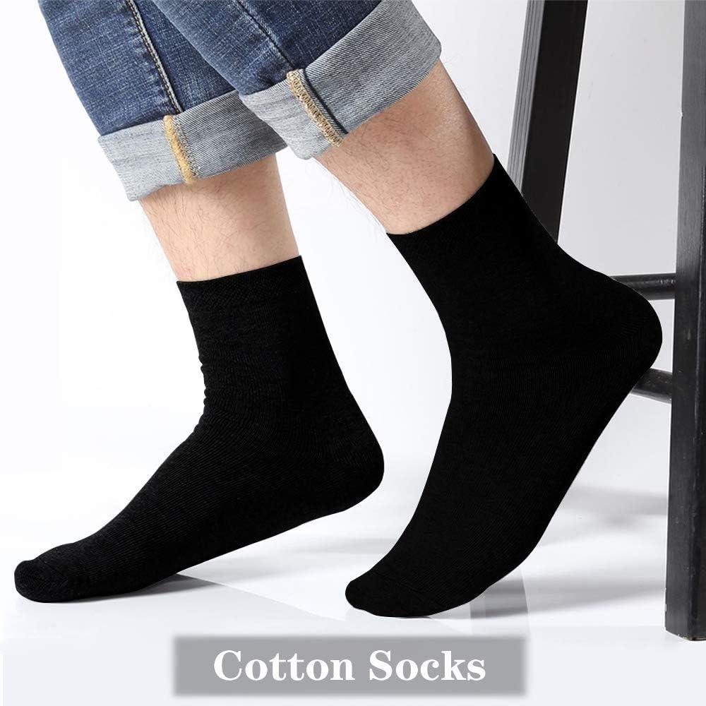 Aibrisk Cotton Socks Summer Breathable Cool Casual Socks Black Comfy Ankle Socks Unisex 5 Pairs