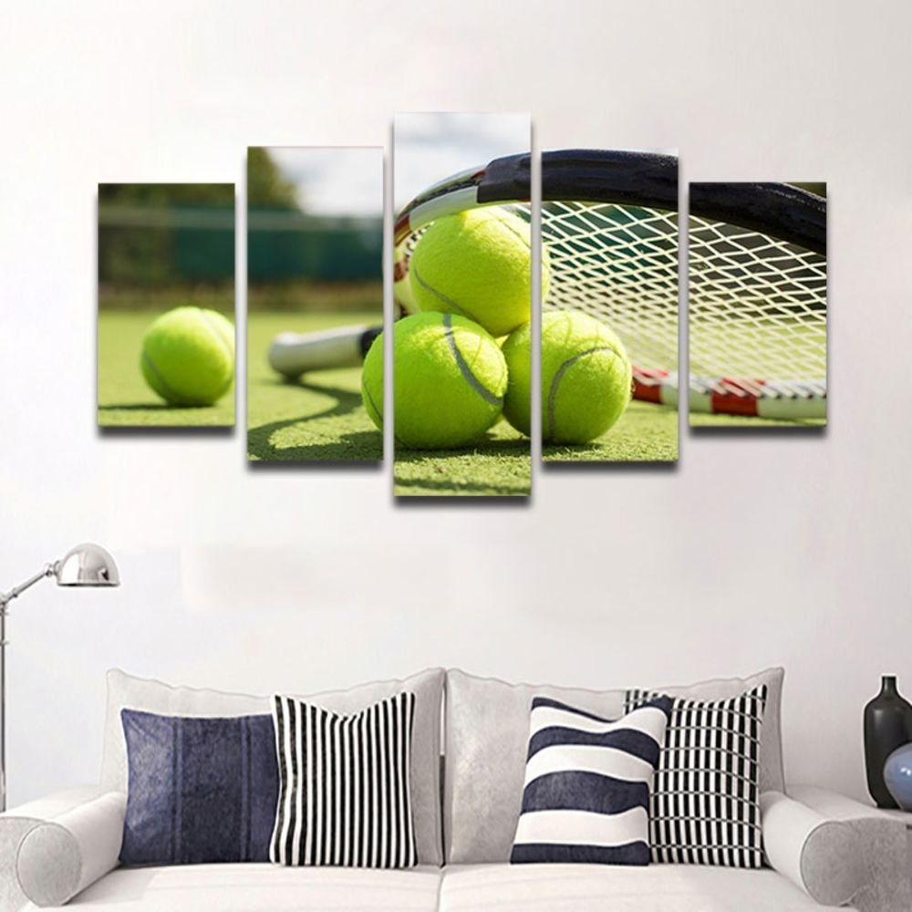 Amazoncom Canvas Art Tennis Racket Painting Wall Pictures For
