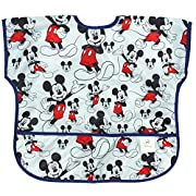 Bumkins Baby Toddler Bib, Disney Waterproof Junior Bib, Mickey Mouse Classic (1-3 Years)