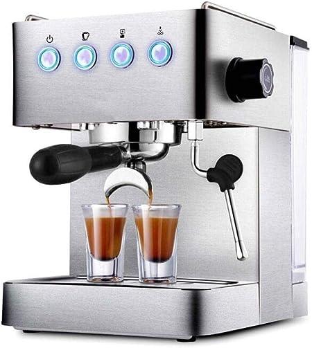ZHQHYQHHX Cafetera Nueva máquina de café Espresso Principal Comercial Principal Bomba de Leche de Vapor semiautomática Completa Acero Inoxidable: Amazon.es: Hogar