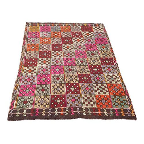 Turkish Vintage Kilim Rug - 4'9