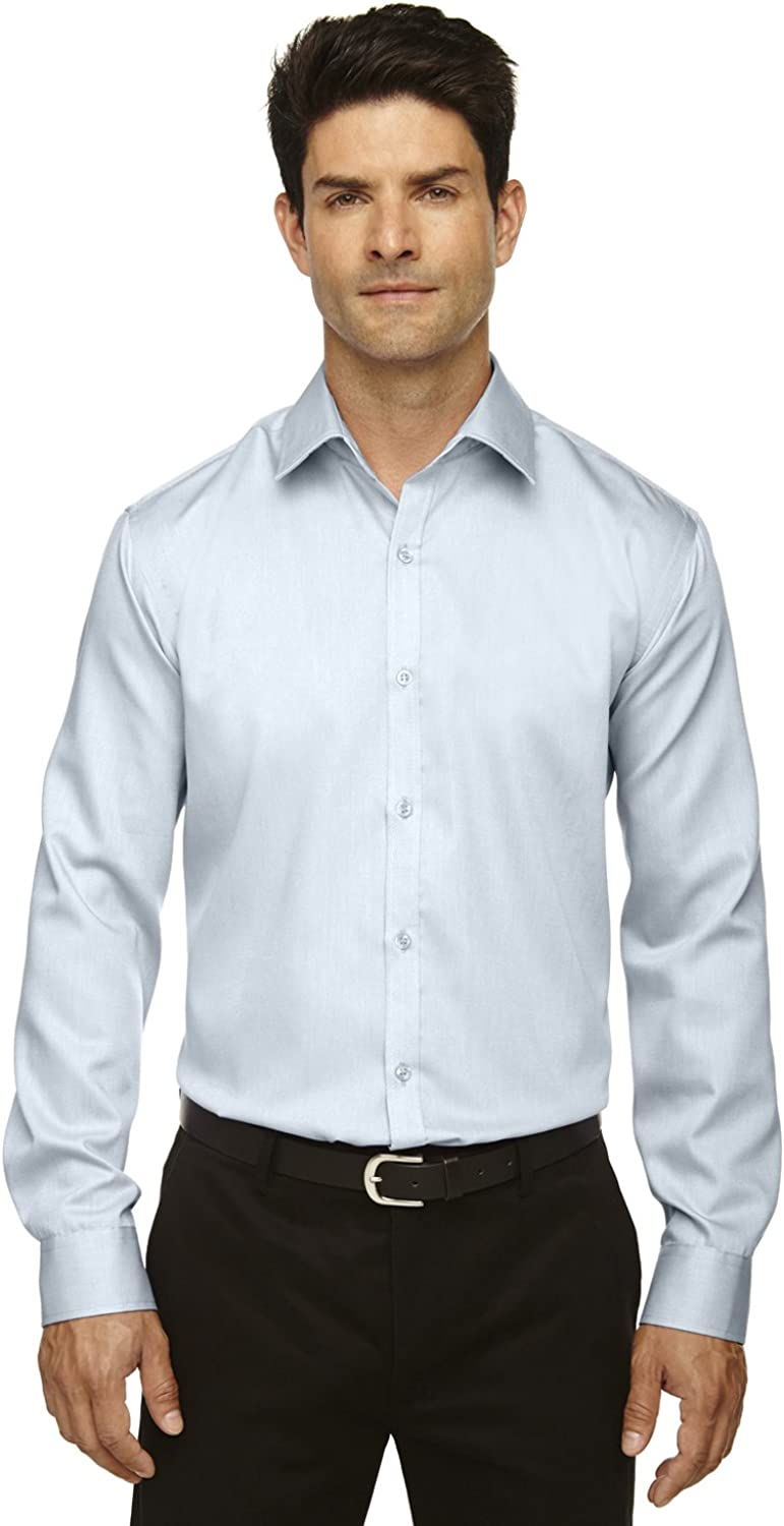 Ash City Mens Wrinkle Free 2-Ply 80s Cotton Dobby