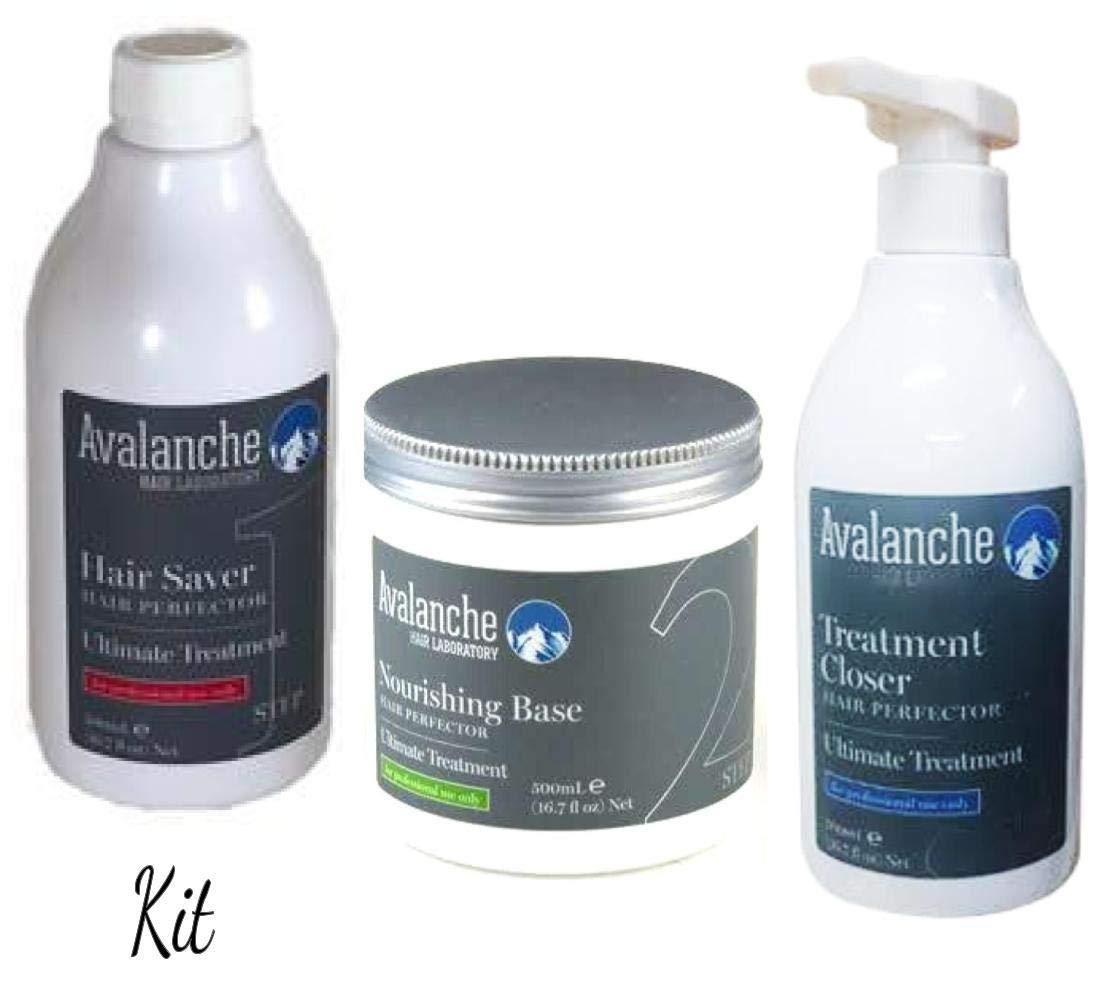 Avalanche Stylist 3 Step Kit Hair Treatment Damage Solution Hair Saver Repairs