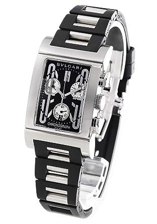 online store 2d6d2 ab426 Amazon | ブルガリ レッタンゴロ クロノグラフ 腕時計 メンズ ...